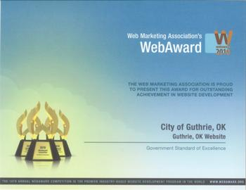 Guthrie website award
